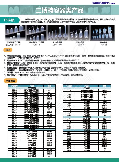 PFA 广口/窄口洗瓶
